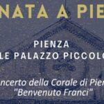 """Serenata a Pienza – Concerto della Corale di Pienza """"Benvenuto Franci"""" Sabato 4 Settembre – 21.30"""